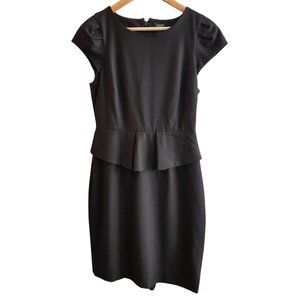 Black J. Crew Dress with Peplum - Size 4